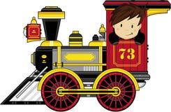 поезд шаржа милый Стоковое фото RF