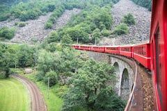 поезд швейцарца Стоковая Фотография