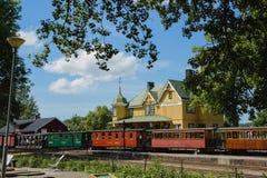 Поезд Швеции старый Стоковое Изображение