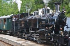 Поезд BFD 3 (бриг-Furka-Disentis) HG 3/4 3 пара Стоковые Фотографии RF