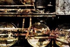 поезд grunge Стоковые Фотографии RF