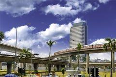 поезд mrt singapore Стоковые Фото