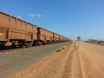 Поезд Pilbara Австралия железной руды Стоковое фото RF