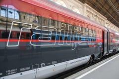 Поезд Railjet стоковое фото