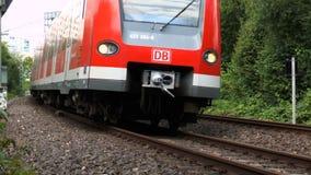 Поезд S-Bahn немца сток-видео