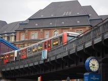 Поезд s Bahn s в Гамбурге Стоковое Изображение RF