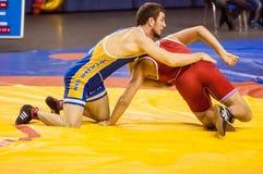 Поединок в wrestling Стоковое Изображение
