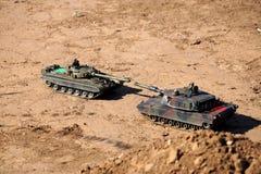 Поединок танка на том основании Стоковые Фото