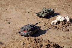 Поединок танка на том основании Стоковое Фото