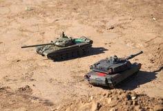 Поединок танка на том основании Стоковая Фотография