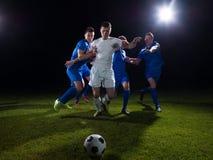 Поединок футболистов Стоковые Изображения RF