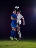 Поединок футболистов Стоковое фото RF