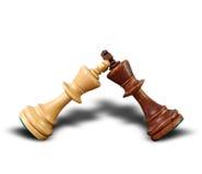 Поединок шахмат королей Стоковые Фото
