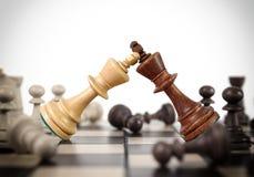 Поединок шахмат королей Стоковая Фотография