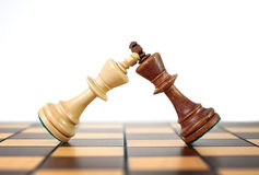 Поединок шахмат королей Стоковые Изображения RF