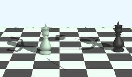 Поединок шахмат Стоковая Фотография