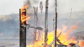пожарище сток-видео