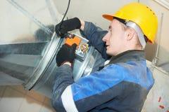 Пожарная безопасность работает на системе удаления дыма Стоковое фото RF