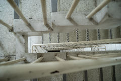 Пожарная лестница лестничного колодца Стоковая Фотография RF