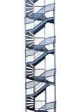 Пожарная лестница изолированная на белизне стоковая фотография rf