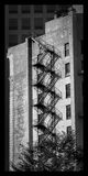Пожарная лестница на здании, Pittsburg, PA Стоковое Фото