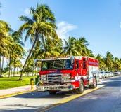 Пожарная команда на обязанности в южном пляже в Майами Стоковые Изображения RF