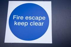 Пожарная лестница знака стоковое изображение