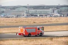 Пожарная машина авиапорта Стоковое Фото