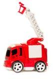 Пожарная машина игрушки автомобиля красная с extendable лестницей и корзиной, Стоковые Изображения RF
