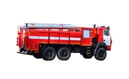 Пожарная машина изолированная на белой предпосылке, переходе для того чтобы исключить огонь Стоковая Фотография