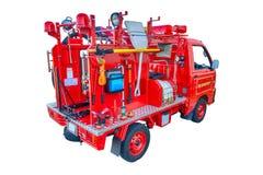 Пожарная машина младенца от зада изолированного на белизне Стоковая Фотография RF