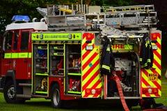 Пожарная машина на спешке Стоковое Изображение