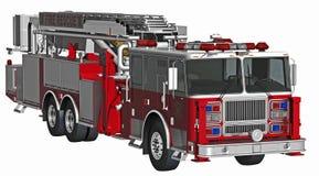Пожарная машина на спешке Стоковое Фото