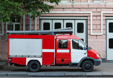 Пожарная машина на спешке Стоковые Фото