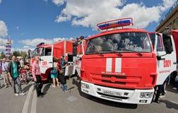Пожарная машина на шасси KAMAZ Стоковые Фотографии RF