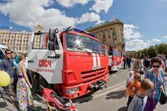 Пожарная машина на шасси KAMAZ Стоковое Фото