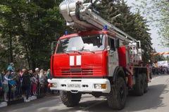 Пожарная машина отделения пожарной охраны в Kislovodsk в обозе на Стоковое Фото