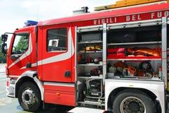 Пожарная машина после переключать пожара Стоковые Фото