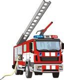 пожарная машина иллюстрация штока