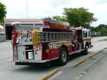 Пожарная машина 911 N y c выбытая к Флориде Стоковая Фотография