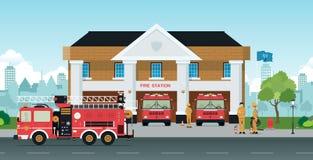 Пожарное депо бесплатная иллюстрация