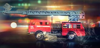 Пожарные к сцене стоковые изображения