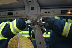 пожарные практикуют Стоковые Изображения