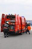 Пожарный в действии стоковое фото