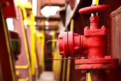 Пожарный гидрант на грузовом корабле стоковое изображение