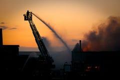 пожарный действия Стоковые Изображения RF