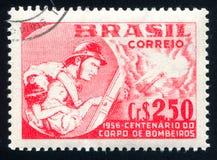 пожарный напечатанный Бразилией Стоковые Фото