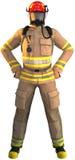 Пожарный, пожарный, первый изолированный ответчик, иллюстрация вектора