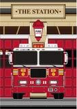 Пожарный шаржа - пожарная машина Стоковые Фотографии RF