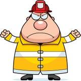 Пожарный шаржа сердитый бесплатная иллюстрация